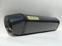 Carbon-fiber exhaust (350L) + carbon-fiber flanged tailpipe
