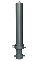 Telescopic front-end tipping cylinder