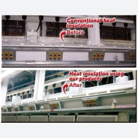Comparison of conventional and Just Perfect's heat insulation