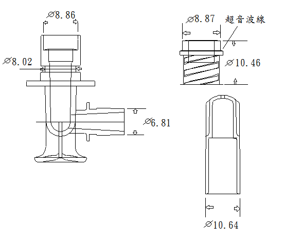 HDF connector /Dialysis Circuit / Filtering connector/Plastic Medical Parts