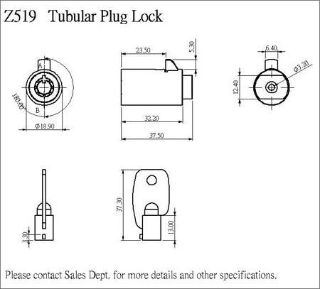 管状插头锁