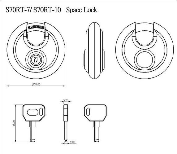 不銹鋼盤鎖