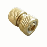 1/2 solid brass hose repair connector