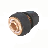 3/4 solid brass auto shut off hose repair connector with TPR claded