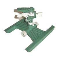 Plastic pulsating  sprinkler with plastic H type base