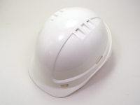 Vented work safety helmet