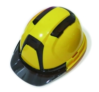 Vented helmet with clear rim