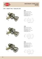 ANSI 3 Knob Lock
