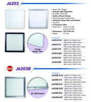 6×6 Led Flat Panel Light Series