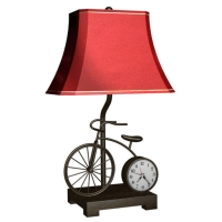 Metal Lamp with Clock