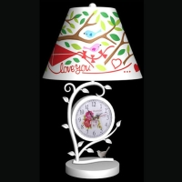 Metal Lamp with Clock