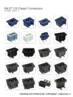 Snap-in-type power inlet (JR-201S series)