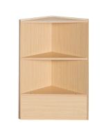 Triangular coner case with wood shelves