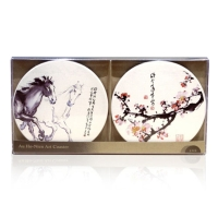 Art Absorbing Ceramic Coasters by Hao Nian Ou