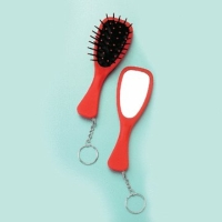 Keychain Hairbrush & Mirror