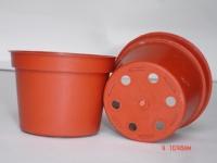 3寸紅矮盆(平底)