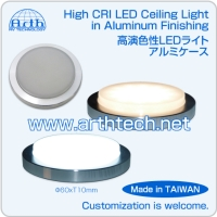 High CRI LED Ceiling Light in Aluminum Finishing, RV High CRI LED Ceiling Light in Aluminum Finishin