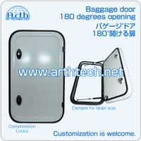 Baggage door with 180 degrees opening, RV Baggage door with 180 degrees opening