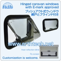 Hinged caravan windows with E-mark approved, RV Hinged caravan windows with E-mark approved