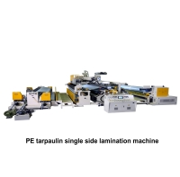 05. PE tarpaulin single side lamination machine