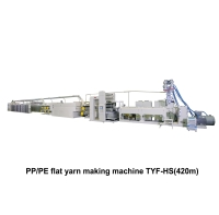 02. PP/PE Extrusion Tape Line Making Machine TYF-HS(420m)