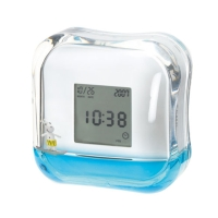 Liquid rotational alarm clock