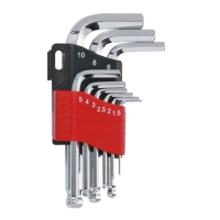 Short ball-point hex key wrench set