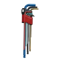 Extra-long ball-point hex key wrench set
