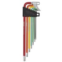 7pc ball-point hex key wrench set & 8mm socket  (short, long, extra long)
