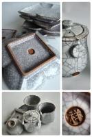 Ceramics (cracked glaze)