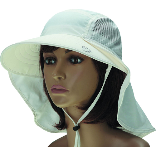 Ladies UV Protection Hat With Removable Flap