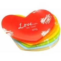 Love Poems Glass Dessert Plate