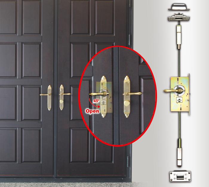 迫紧式连动天地栓--可应用于RYOBZ门锁