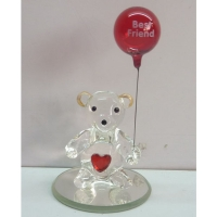 Glass Teddybear Ornaments