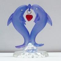 Glass Dolphin Ornaments