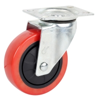 Flexible rubber caster