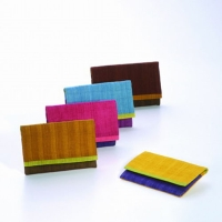 Nice Meet You–Naturally-dyed Hand-woven  Three Color Silk Card Holders
