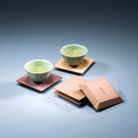 Five Wooden Saucers