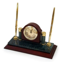 Clock with double pen stand
