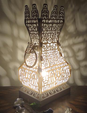 纸艺造型桌灯