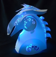 3D paper silhouette-horse