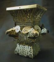 3D paper silhouette -bronze vessels