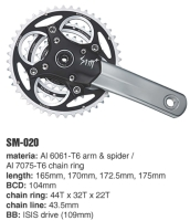 Cens.com SM-020 MTB crank sets I-PLUS DESIGN CO., LTD.
