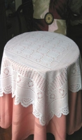 Vinyl Crochet Lace Table Cloth