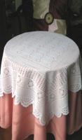 Vinyl Crochet Lace Table Cloth