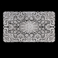 Vinyl Crochet Lace Table Mat
