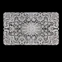 Vinyl Crochet Lace Table Mat