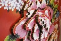 台灣花布系列-富貴牡丹屏風