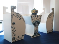Blue- and- White Print Table set