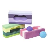 舒活缤纷瑜珈砖(高密度)+两个按摩球